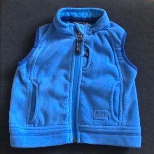 REI blue 12 mo fleece vest